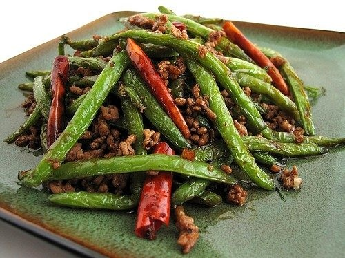 Spicy Sichuan Style Green Beans Recipe — Dishmaps