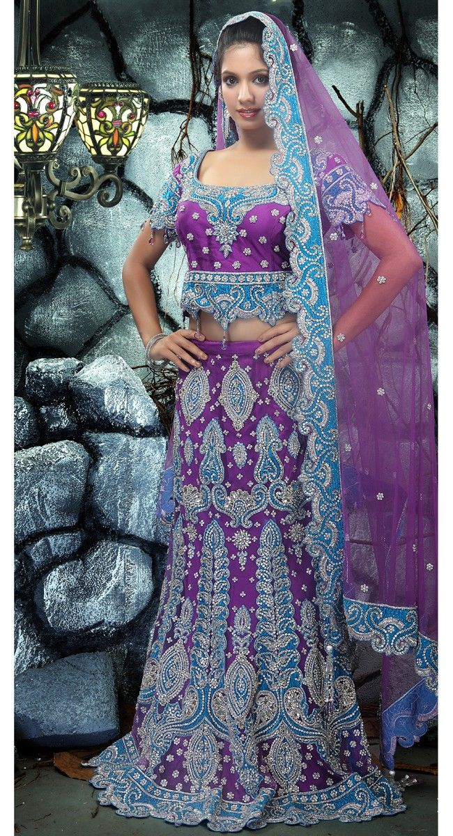 Splendorous Bluish Purple #Lehenga #Choli$781.00