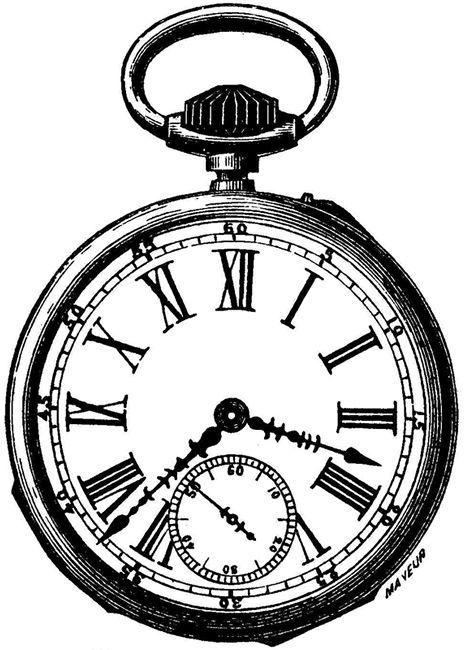 Pocket Watch clip art | Lets have tea! | Pinterest