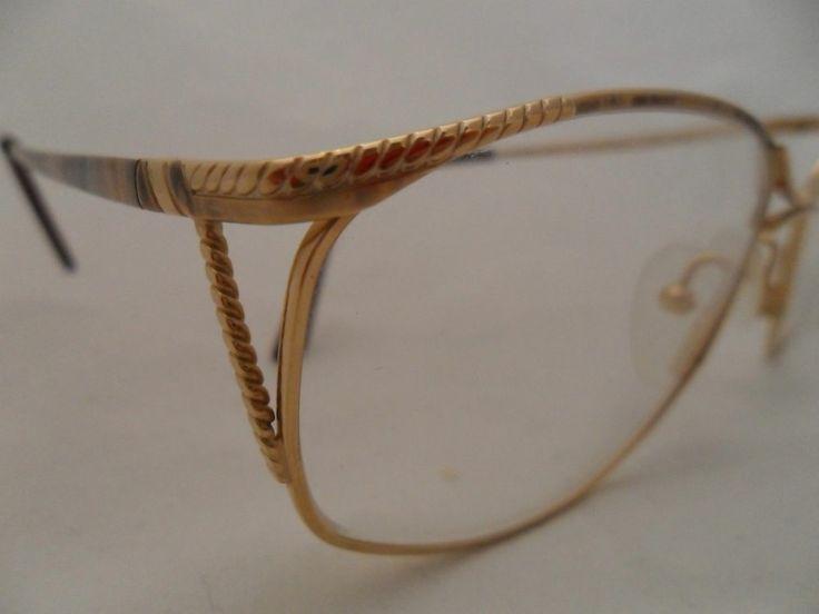 Gold Coloured Glasses Frames : Logo paris eyeglasses frame model530 metal gold color new ...