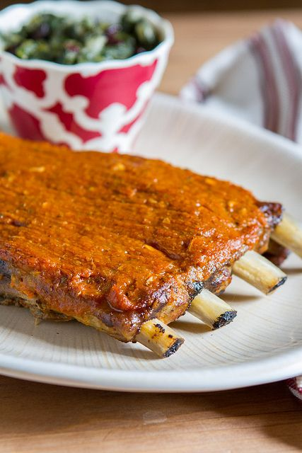 Slow Cooker Pork Spare Ribs with Spicy Peach-Mango BBQ Sauce by Back ...