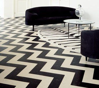 Color Your Floor: Old School Vinyl Tile Patterns | Apartment Therapy
