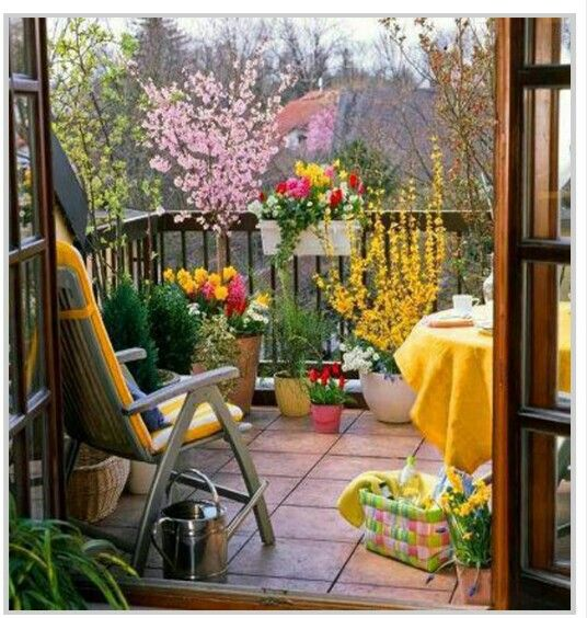 Small Balcony Garden Design