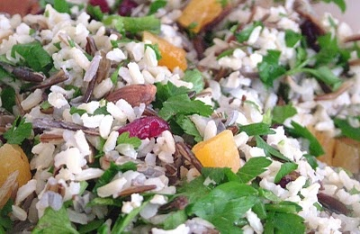 Grainy Rice Salad with fruit and nuts | Dinner Tonight | Pinterest