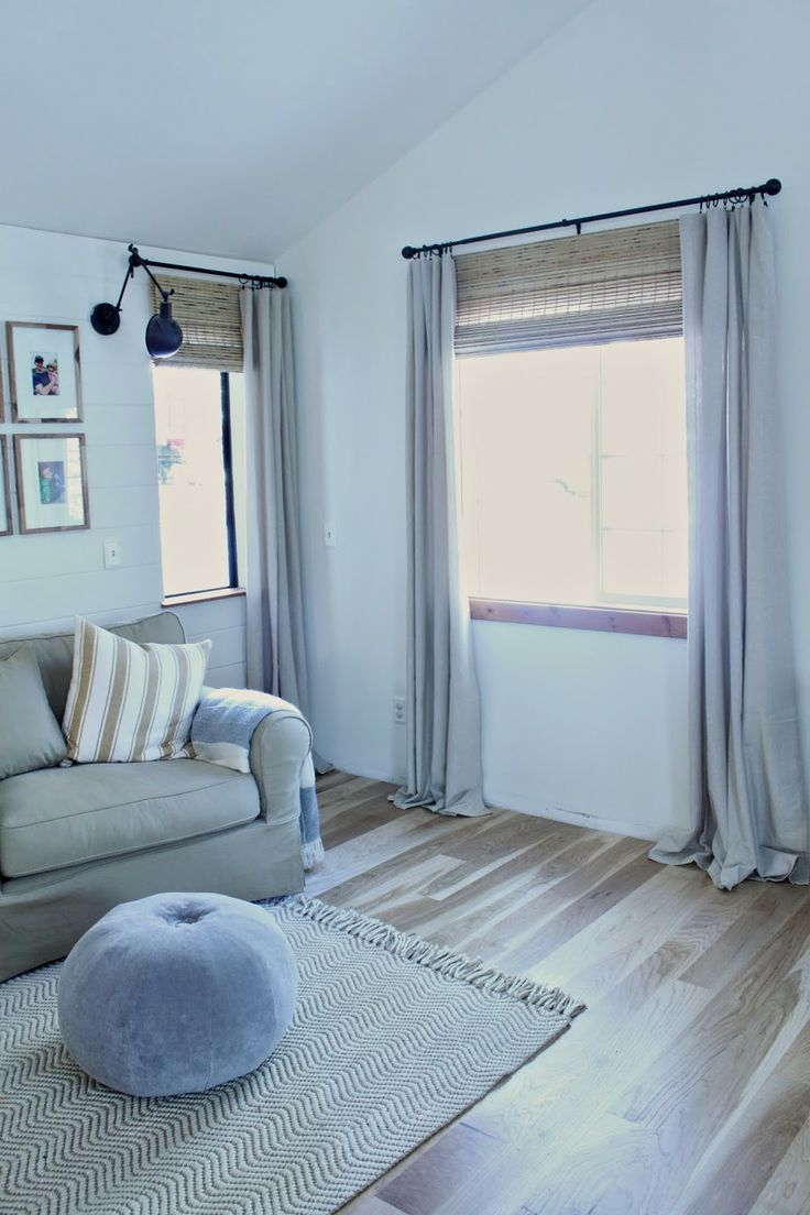 Ikea Curtains + Roman Bamboo blinds