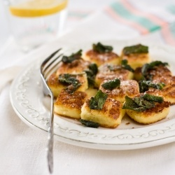 Ricotta Gnocchi With Brown Butter Sage Sauce -- made this for family ...
