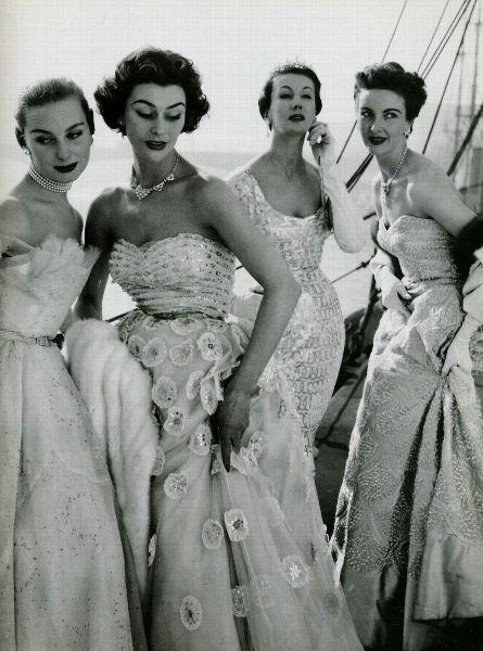 Fancy party dresses c. 1953