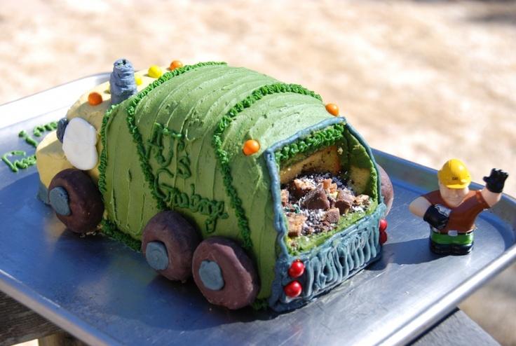 trash truck cake Kids Birthday Ideas Pinterest