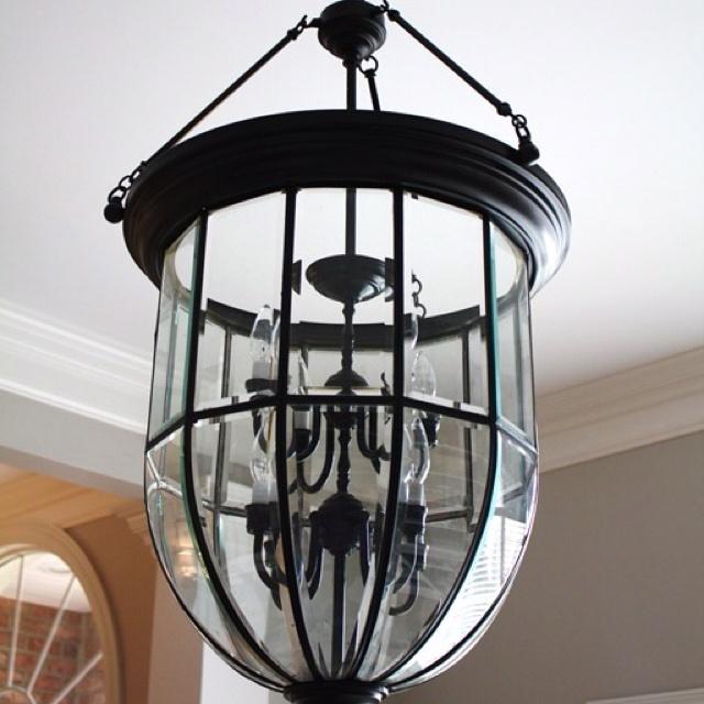 glass enclosed chandelier home decor pinterest. Black Bedroom Furniture Sets. Home Design Ideas