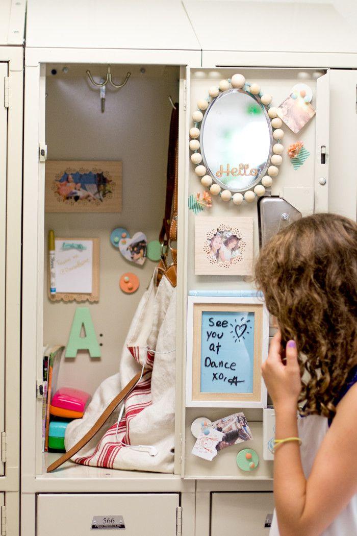 We love Flax & Twine's back to school locker crafts made with the Frame Border Punch from #marthastewartcrafts #12monthsofmartha