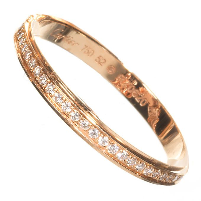 Rose Gold Wedding Band with Diamonds by Cartier - Rose Gold Wedding ...