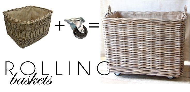 DIY Basket on Wheels
