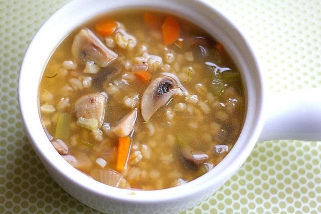 Mushroom Barley Soup Recipe | Two Peas & Their Pod