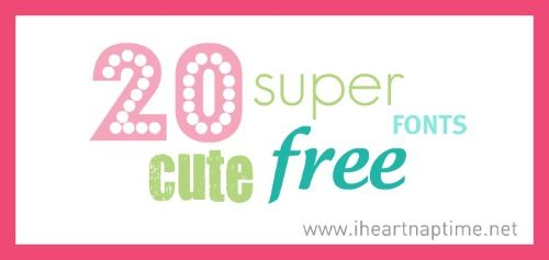Super cute free fonts!