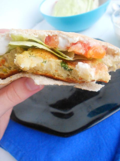 Chickpea Burgers with Tahini Sauce | Veganize It! | Pinterest