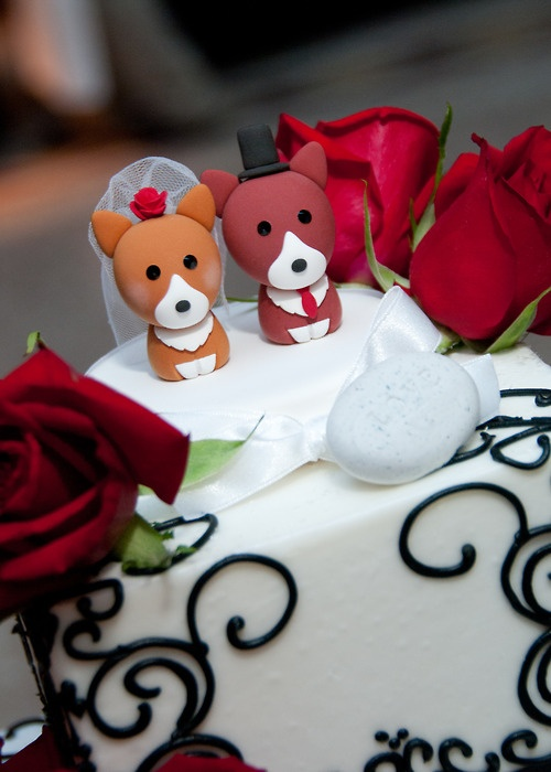 corgi cake topper