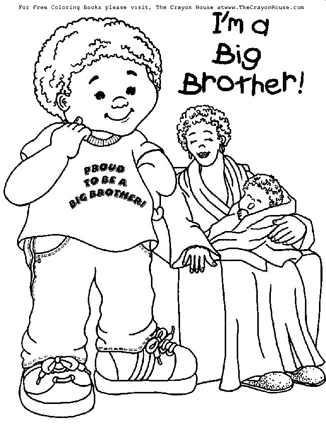big brother coloring pages - photo#9