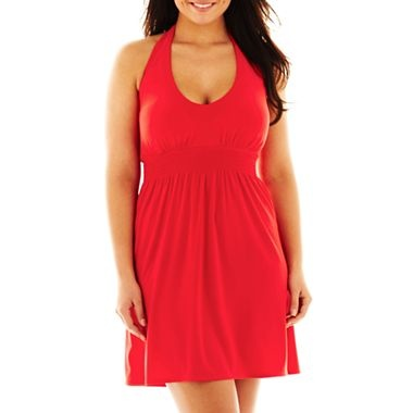 plus size attire in red