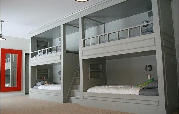 children's room. bunk beds.