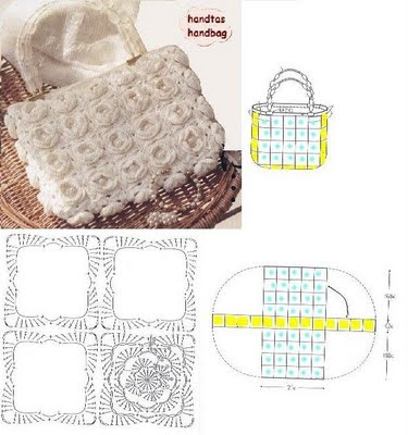 Crochet purse #1 with diagram Crochet bag purse tote ...