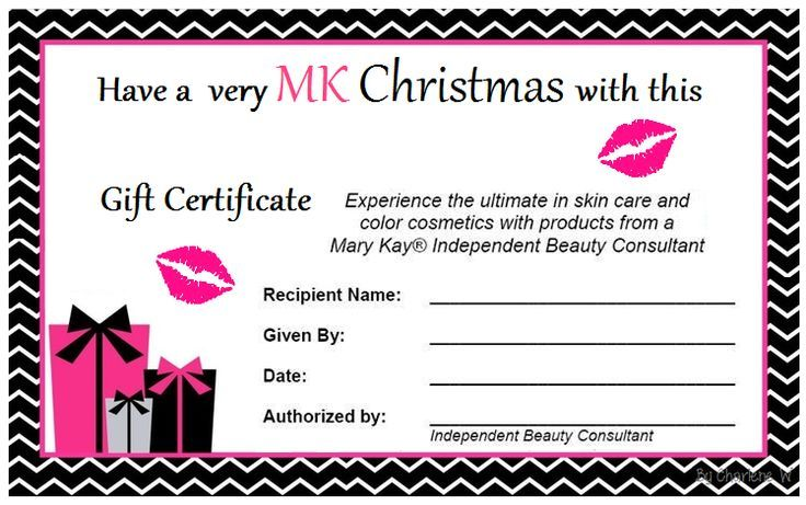 Mary Kay Holiday Gift Certificates