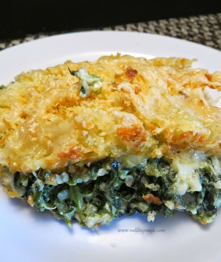 Creamed Spinach Gratin: Creamed spinach is a steakhouse favorite side ...