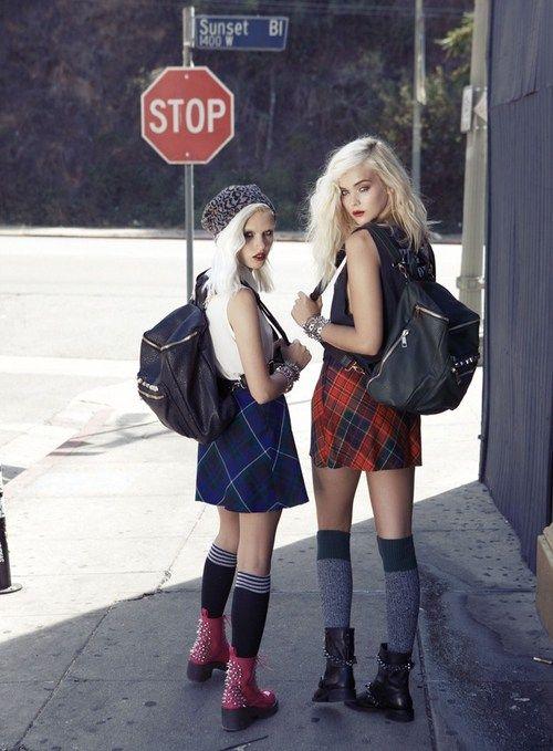 Tartan. #Fashion #Grunge #Yayer