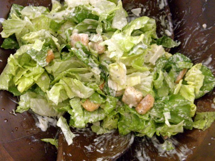 easy Caesar salad recipe | Bridal Shower | Pinterest