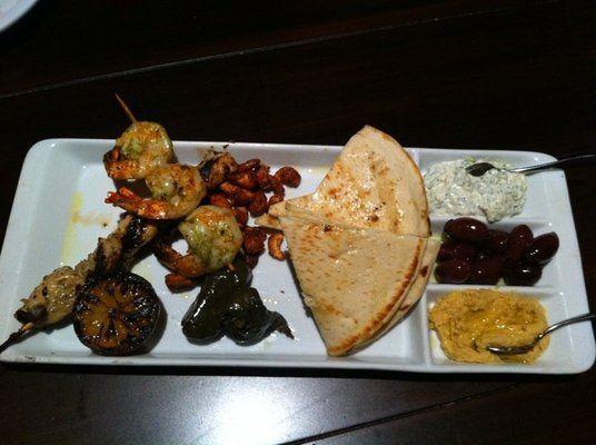... : Spicy Gulf Prawns, Greek Lamb Meatballs in sauce, or Pork Souvlaki