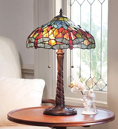 dragonfly stained glass lamp stained glass pinterest. Black Bedroom Furniture Sets. Home Design Ideas
