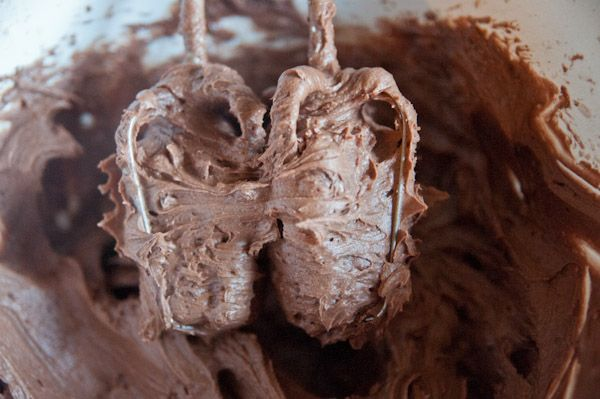 ... chocolate cloud of luscious triple chocolate buttercream icing