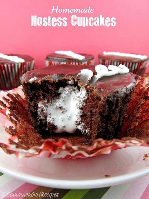 Homemade Hostess Cupcakes   Cakes   Pinterest