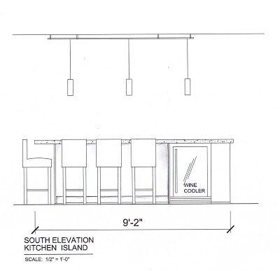 Kitchen Island Elevation | Love to Draw | Pinterest