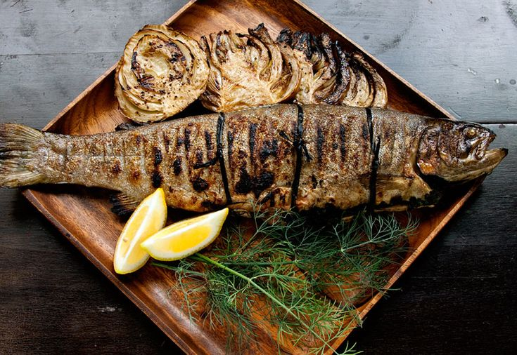 Grilled Herb-stuffed Trout: Here's a method for preparing any whole ...