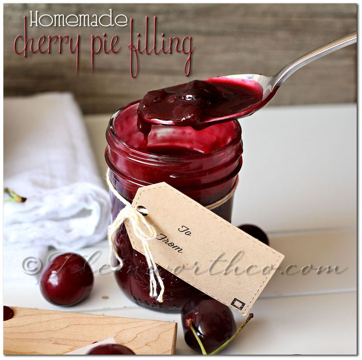 Homemade Cherry Pie Filling - It's super simple & you can store it ...
