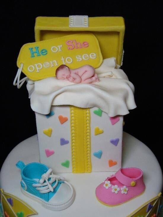 Cake Gender Reveal Party Events.Parties Pinterest