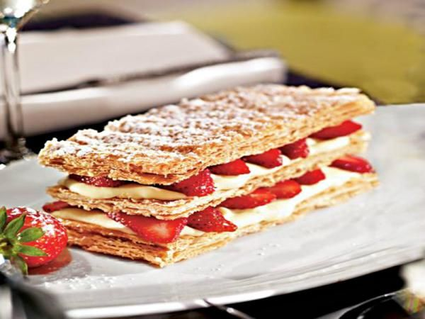 Strawberry & Lemon Curd Mille-Feuille Recipe Video by ...