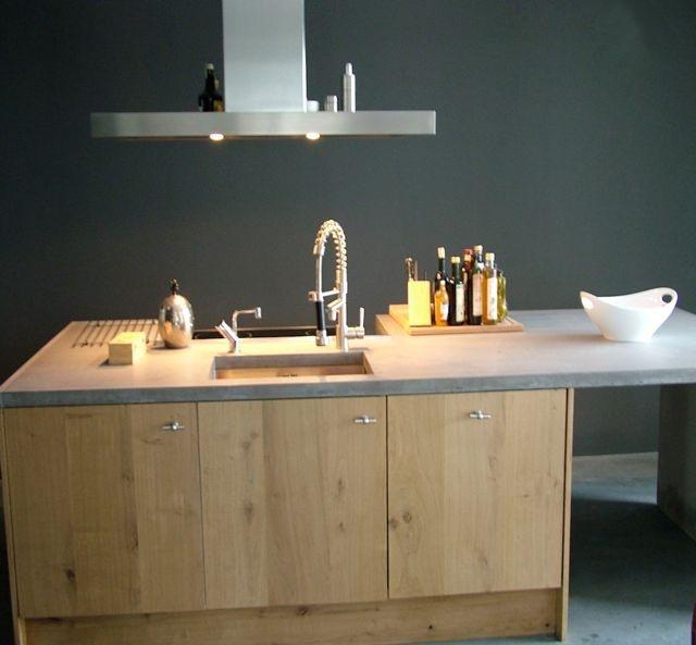 Keuken Van Eikenhout : Keukeneiland van eikenhout en beton Keukens Pinterest