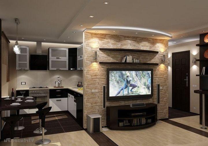 Интерьеры кухни совмещенной с гостиной в хрущевке фото