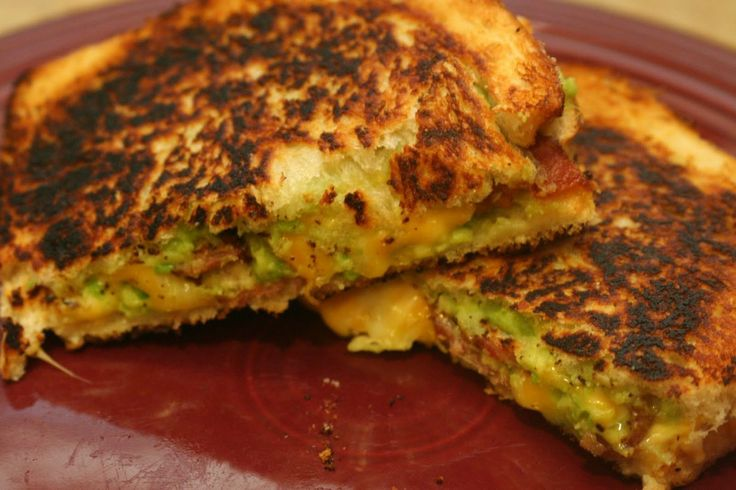 Bacon Guacamole Grilled Cheese Sandwich | Awesome recipes | Pinterest