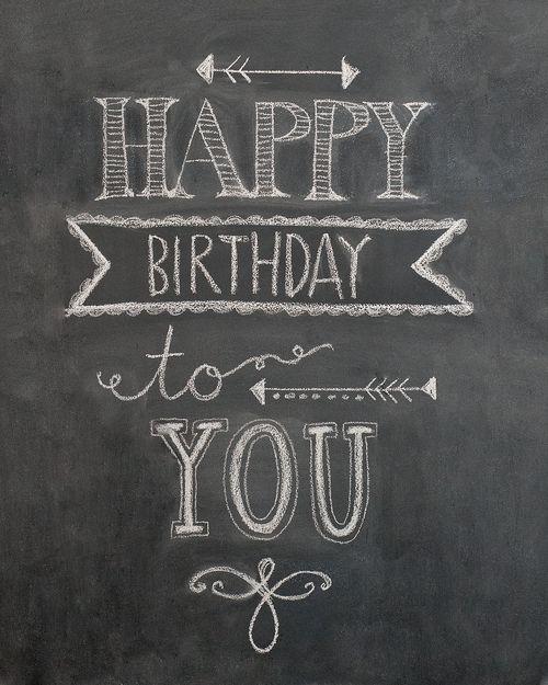 Happy birthday chalk art pinterest