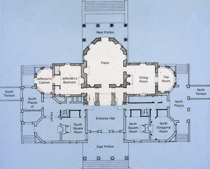 Thomas jefferson s monticello plans jefferson 39 s for Monticello house plans