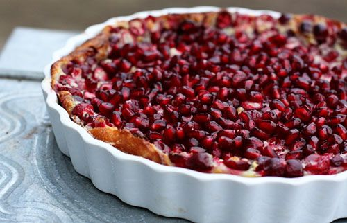 Pomegranate and cranberry clafoutis | Cooking and Cookery | Pinterest
