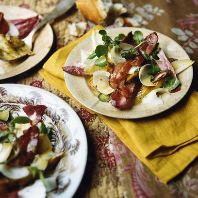 roasted leeks goats cheese bacon salad | Food Glorious Food | Pintere ...