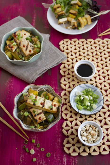 Grilled Tofu with Summer Squash and Soba | Food & Drink | Pinterest