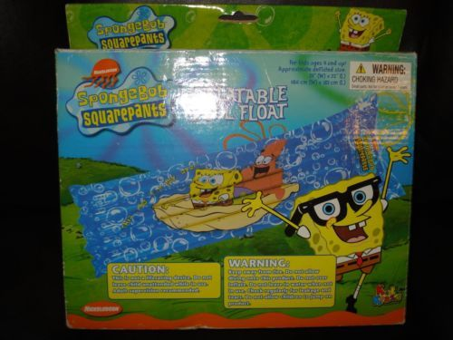 New Nickelodeon Spongebob Squarepants Inflatable Pool Float Raft Swim