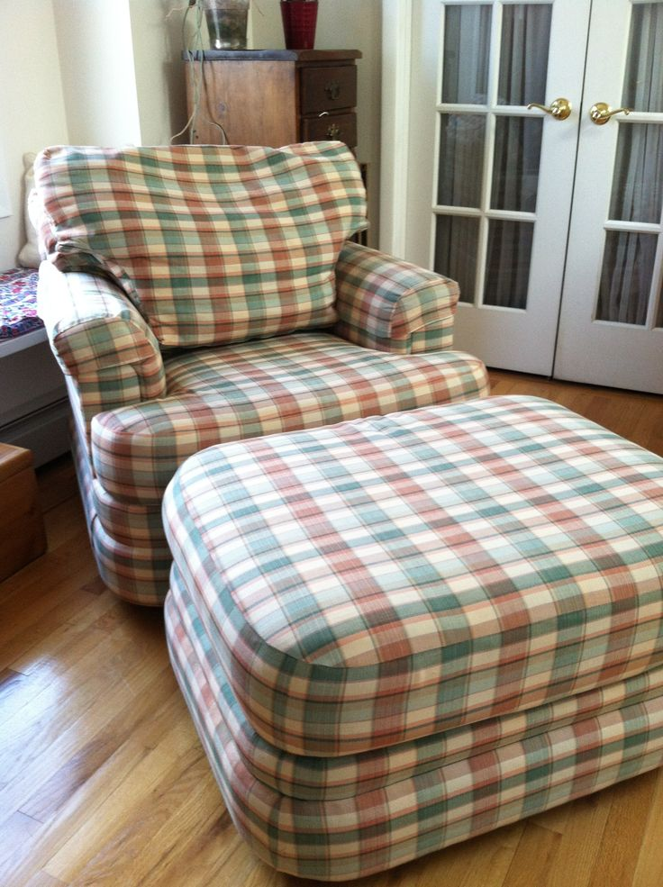 Overstuffed Chair and Ottoman submited images