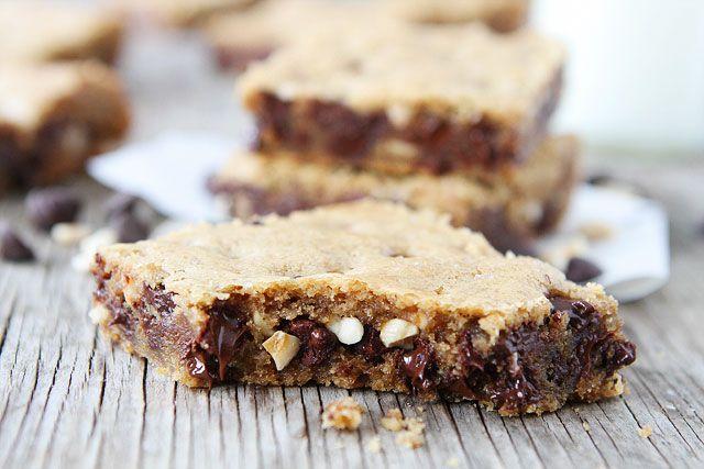 Brown Butter Chocolate Chip Hazelnut Cookie Bar Recipe on ...
