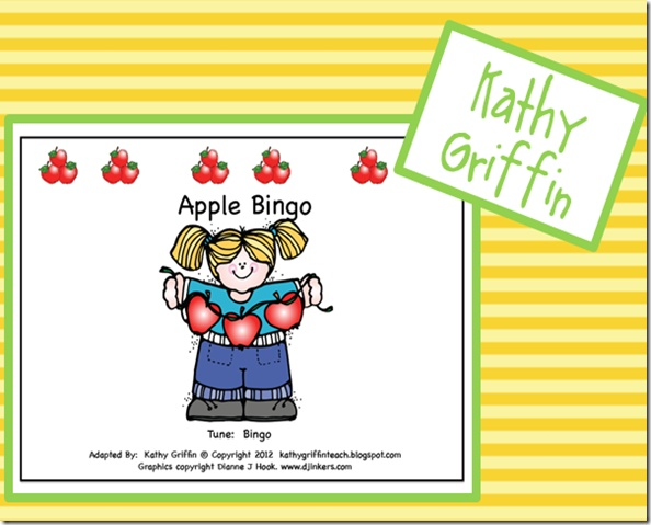 Apple Song sung to the tune of Bingo
