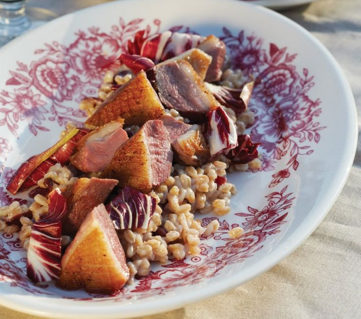 This poached duck breast is the perfect entree cap to our meal to ...